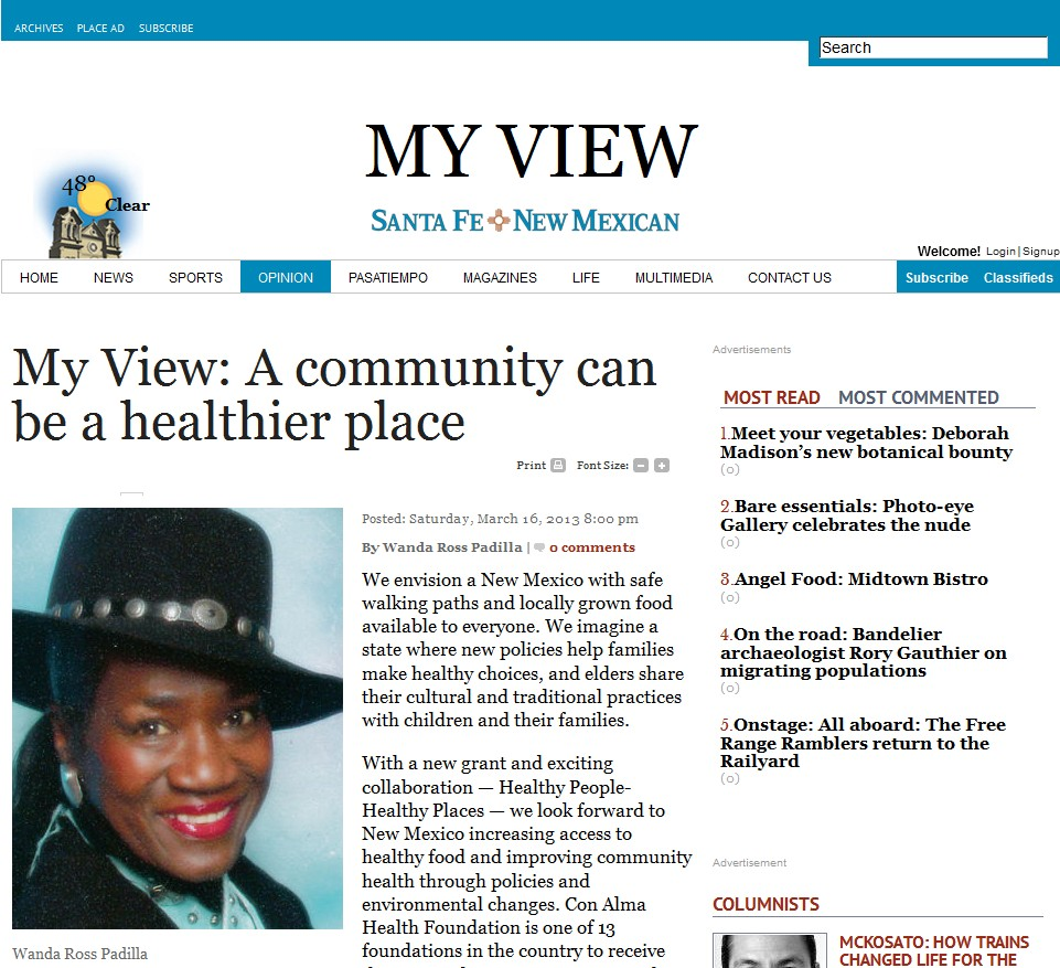 CAC Member Op-Ed: A Community Can Be a Healthier Place