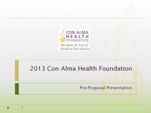 2013 Small Grants Webinar Powerpoint