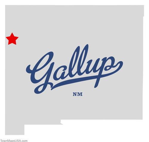 (CC) BY-NC Map of Gallup NM via http://townmapsusa.com