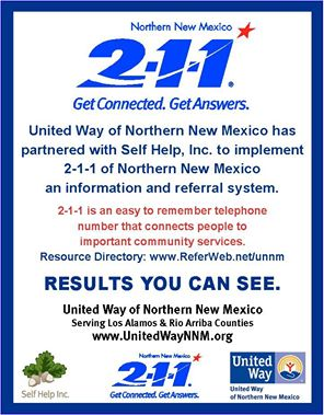 2-1-1 of Northern New Mexico Resource Directory