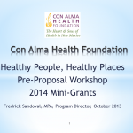 Healthy People, Healthy Places Mini Grants