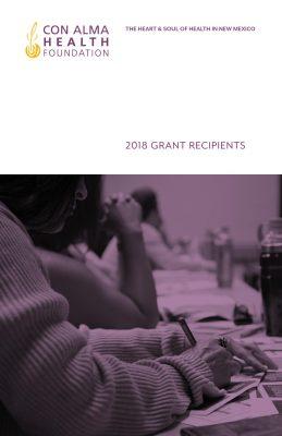 2018 Grantee Booklet
