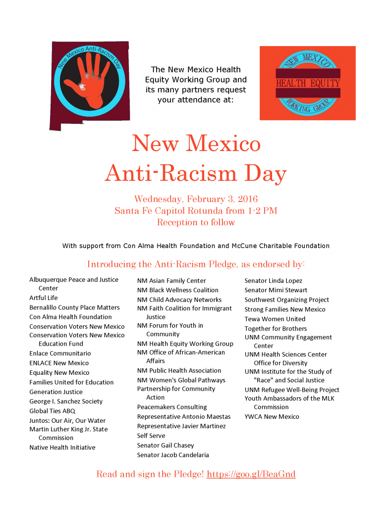 Anti Racism Day Flier
