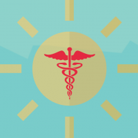 The caduceus is the traditional symbol of Hermes and features two snakes winding around an often winged staff